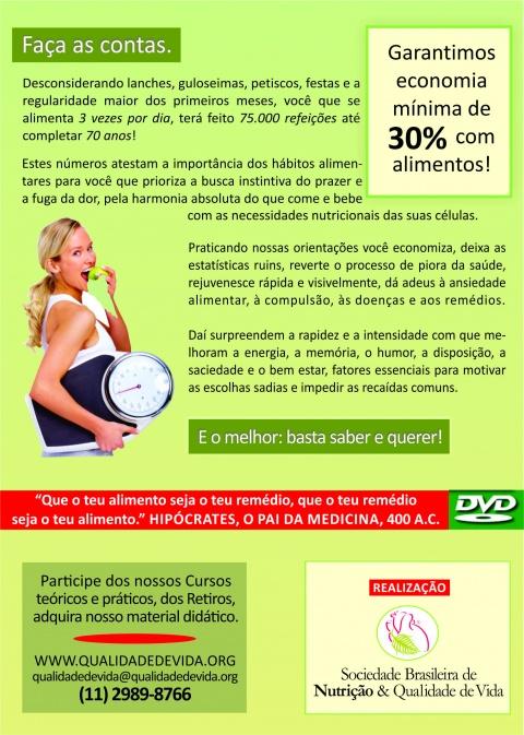 Verso da capa DVD Hábitos Alimentares e Qualidade de Vida